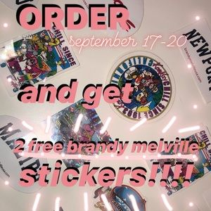order and get free stickers!!